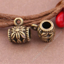 20pc Antique Bronze Pattern Charms Pendant Hanger Bails Beads Connector S389T
