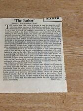 T1-1 ephemera 1957 bbc article the father play world theatre strindberg jack haw