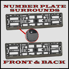 2x Number Plate Surrounds Holder Carbon for Fiat Punto EVO