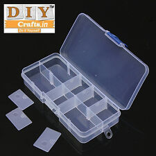 Qty 10Piece 10 Compartment Plastic Case Jewelry Bead Storage Container Organizer