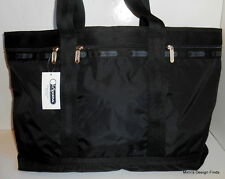 LeSportsac TRAVEL TOTE Black Large *New* Black w/ Pouch 7008 5982 MSRP $114 NWT
