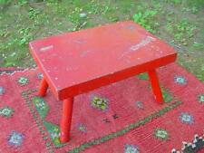 New England Style Foot Stool or Cricket ~ Super Color & Patina ~ Original Paint