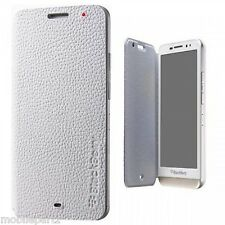 Genuine Original BlackBerry Z30 White Leather Flip Shell ACC-57201-002