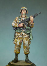 ANDREA MINIATURES SG-F11 - US INFANTRYMAN - 54mm WHITE METAL