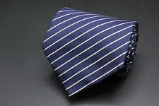 RALPH LAUREN Purple Label Tie. Blue with White Stripes. Made in England.