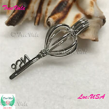 Silver Pearl Cage Pendant- Perfect Key Fun Gift!!
