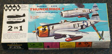 HAWK  2 in 1 Republic P-47D THUNDERBOLT Multi-textured Plating model kit 1/48