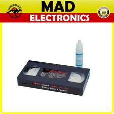 VHS HEAD CLEANER Includes cleaning solution (Non-Abrasive polyester to clean)