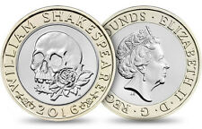 RARE UNCIRCULATED William Shakespeare COLLECTION £2 2016 COIN Two Pounds W3