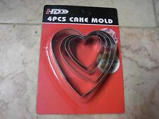 New ! Stainless Steel Heart Biscuit Cake Cookie Cutters Baking Mould