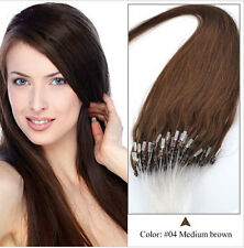 Black/Brown Color Straight Micro Loop Ring Human Remy Hair Extensions Real Hair