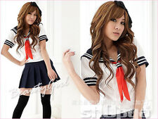 Hollaween Japanese School Girl's Uniform Dress Sailor Cosplay Costume Anime Prop