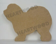 OLD ENGLISH SHEEPDOG DOG SHAPE MDF (127mm x 18mm thick)/WOODEN CRAFT/PLAQUE