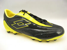 Lotto Mens Fuerzapura L500 Soccer Cleats Size 9.5 Black Cyder Yellow N1317 NEW