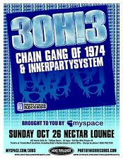 3OH!3 30H!3 Gig 2008 POSTER Seattle Washington Concert
