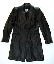 Sylvie schimmel Cuir Manteau 38 40 noir leather coat manteau cuir top