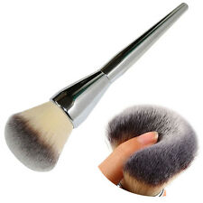 New Pro Face Makeup Blush Powder Silver Handle Cosmetic Large Kabuki Brush Tool
