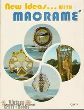 New Ideas with Macrame Birdcage Chair Bikini Butterly Shawl Vintage Pattern Book
