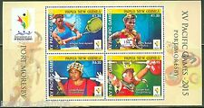 PAPUA NEW GUINEA 2015 PACIFIC GAMES  SHEET  MINT NH