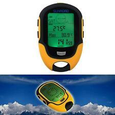 Waterproof Digital LCD Compass Altimeter Barometer Temperature Clock Calendar