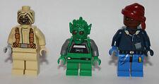 LEGO original PARTS - STAR WARS - 3 custom REPUBLIC CITIZENS - desert-man pirate
