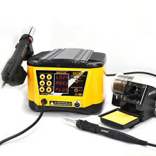 2 in 1 Hot Air Gun Rework Station AOYUE6031 with Soldering Iron Solder Tools