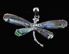 Abalone Shell Dragonfly Pendant bead A7056