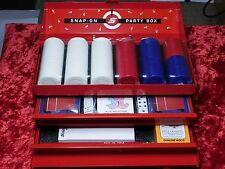 Snap-On Tools Party Box Brand New Sealed Chips, Cards, Dice and Cribbage Board