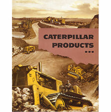 Caterpillar Products Tractors Dozers Book 1958