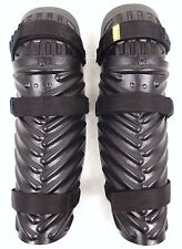 X Police Lower Leg Shin & Knee Leg Guards Limb Protectors Riot Paintballing