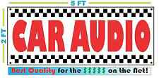 CAR AUDIO Banner Sign NEW Larger Size Best Price for The $$$$$ Stereo