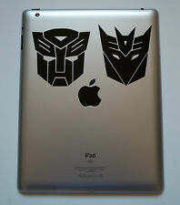 1 x Transformers Sticker Etiqueta De Vinilo Para Ipad Mac Macbook Autobot Decepticon Tab