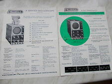 "2 Vintage Leaflets From Heathkit Daystrom 3"" Service & 5"" Flat-Face  Oscillopes"