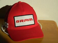 CAP NEW SRAM CYCLING TRUCKERS MESH BACK STRAP BACK HIGH QUALITY EMBROIDERED LOGO