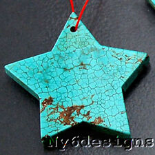 58x58x7mm XL Magnesite Turquoise Star Pendant bead (CPD18)a