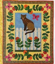 Cat On A White Picket Fence Quilt Pattern Pieced/Aplique MS Parts 1 & 2 Complete