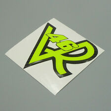 Fluorescent Neon Yellow Rossi VR 46 Sticker Decal for Motor Cars Trucks