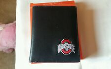 Ohio State Buckeyes Mens Black Leather Bifold Wallet
