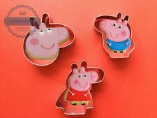 Peppa Pig Cookie Cutter Set 3PC Biscuit Fondant Mold Peppa and George