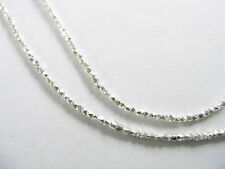 Karen Hill Tribe Silver 250 Little Facet Beads 1mm.13 inches