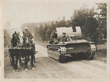 STUNNING PHOTO OF BRITISH ARMY SOLDIERS W/ HORSES   TANK