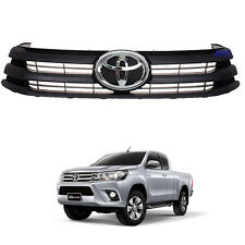 Fit 2015 2016 2017 Toyota Hilux REVO Pickup UTE Front Grille Grill Black OEM