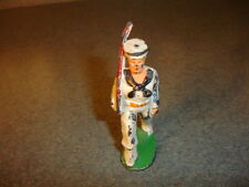 Old Vtg Antique Collectible Barclay? Manoil? Lead Toy Navy Seal Marching W/ Gun