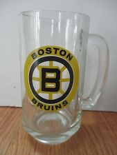 "Vintage 70s BOSTON BRUINS Logo 5.5"" Glass Mug"