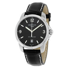 Certina DS Podium Black Dial Black Leather Mens Quartz Watch C0014101605701