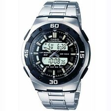 Casio Men's Bracelet Combi Watch, Black & Silver, AQ-164WD-1AVES