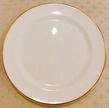 Set 12 Wedgwood England Plates Gold & White Banquet Charger Fine Bone China