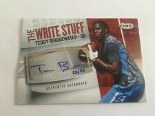 Teddy Bridgewater 2014 SAGE Hit Write Stuff RC Auto #23/25 Vikings FREE SHIP