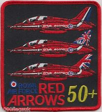 RAF Red Arrows 50 Years Royal Air Force Embroidered Badge Patch MOD Approved