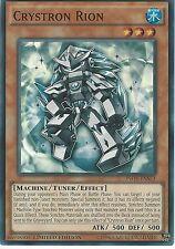 YU-GI-OH CARD: CRYSTRON RION - SUPER RARE - INOV-ENSE3